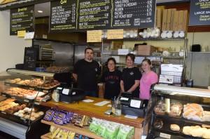 The morning staff at the Little Bake Shoppe, left to right, owner, Jerald Hoover, Irene Landeverde, Jennifer Garrett and Beverly Malick.